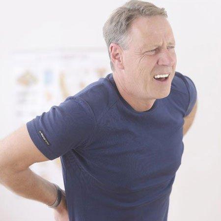 Slip-disc causing back pain