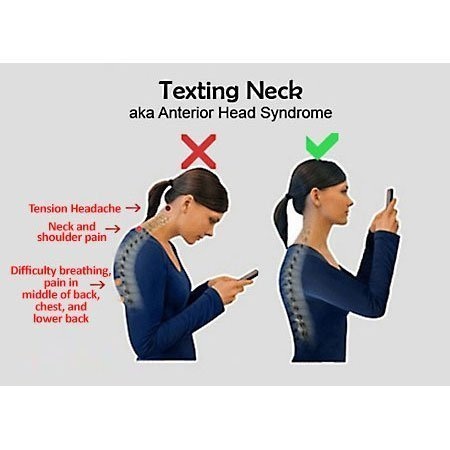 Neck pain caused by texting